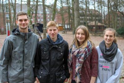 Die Landesjugendsprecher und ihre Stellvertreter (von links): Tobias Schijven, Bjarn-Luca Meier, Annemieke Ehlers und Lea Meins.