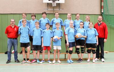 Die beiden Mannschaften aus Ohlendorf gewannen die junge Klasse des Volleyballturniers des Landkreises Diepholz. Foto: Kreisfeuerwehr Diepholz