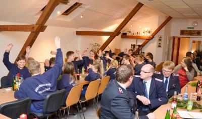 Über gute Beteiligung freute sich die Jugendfeuerwehr Harsefeld bei ihrer Jahreshauptversammlung. Foto: Simon