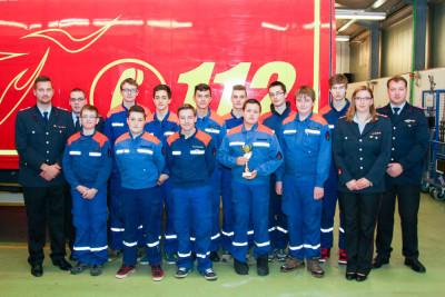 Die Jugendfeuerwehr Bomlitz bei ihrer Jahreshauptversammlung. Foto: Klamet