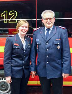 Laura Haase folgt auf Ralf Bergmann als Stadtjugendfeuerwehrwartin. Foto: Henkel
