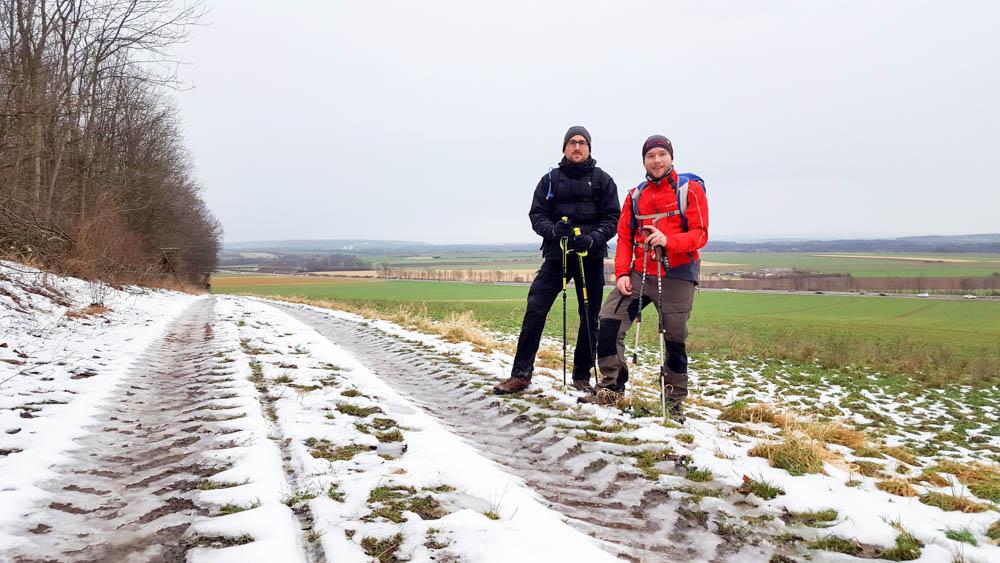 Auf dem Weg zurück nach Braunschweig genossen Marco Dittmer (rechts) und Axel Oppermann nach gewonnener Wette den Ausblick. Foto: Dittmer