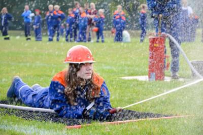 Beim CTIF-Wettbewerb kommt – anders als beim Bundeswettbewerb – auch Wasser zum Einsatz. Foto: Anne-Jana Eckert