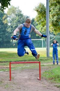 Die Übungen des CTIF sind sportlich fordernd aber dennoch für jeden zu meistern. Foto: Anne-Jana Eckert