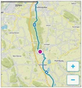 Ein Teil der Strecke nach Bad Harzburg.