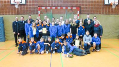Die Jugendfeuerwehr Glüsingen gewann das Seevetaler Völkerballturnier. Foto: Schwanitz