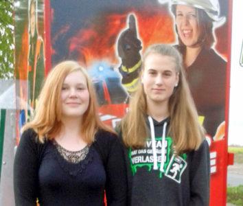 Jugendsprecherin Lea Meins (rechts) und Stellvertreterin Grace Gehlisch. Foto: Kluge