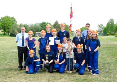 Die Jugendfeuerwehr Mariental erreichte 1345,00 Punkte beim Bundeswettbewerb. Foto: Wermuth