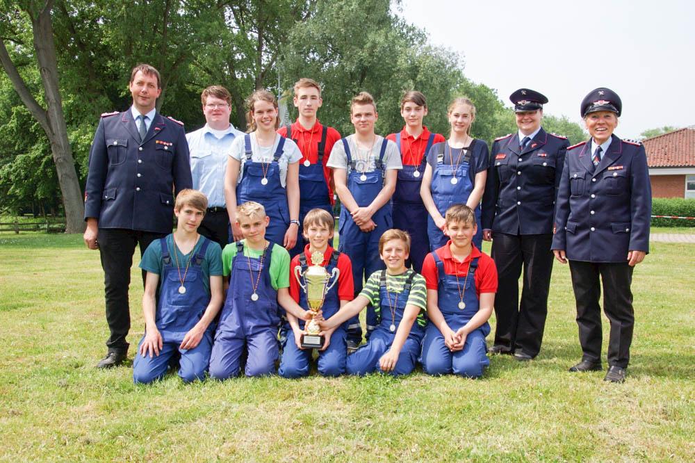 Stadtsieger Jugendfeuerwehren wurde die Jugendfeuerwehr Garze. Foto: Schmidt