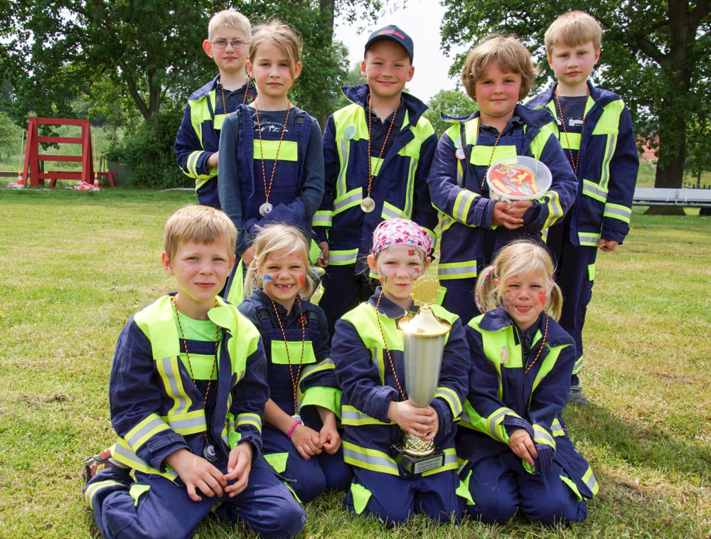 Stadtsieger bei den Kinderfeuerwehren: Gruppe Walmsburg. Foto: Schmidt